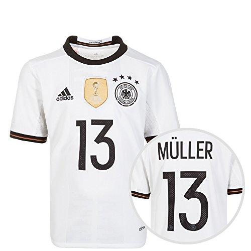 adidas DFB Trikot Home EM 2016 mit Name und Nummer Kinder Thomas Müller, 176 - XL