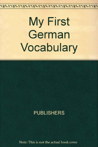 My First German Vocabulary