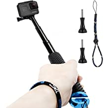 Homeet Palo Selfie GoPro Stick de Extensión Monopode Extensible para GoPro Hero 5/4/3+/3/2/SESSION / Canon/Nikon/Panasonic/Olympus/SJCAM/SONY HDR FDR/Garmin Virb XE/Xiaomi Yi 4K/DBPOWER QUMOX/Akaso/Apeman【AZUL】