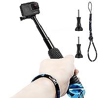 Homeet GoPro Hand Grip 49cm Extendable Aluminum Selfie Stick Telescopic Handheld Pole Monopod for GoPro Hero 6/5/4/3+/3/2/Session/SJCAM/Garmin Virb XE/Yi 4K/DBPOWER/QUMOX/Akaso/Apeman??�BLUE???