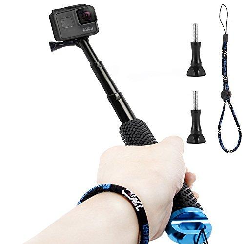 GoPro Selfie Bastone, Homeet Selfie Stick Retrattile Lega di Alluminio Impermeabile Antiruggine Adjustable per GoPro Hero 5/4/3+/3/2/Session, SJCAM/SONY HDR FDR/Garmin Virb XE/Xiaomi Yi 4K/DBPOWER/QUMOX /Akaso/Apeman/TECTECTEC ¡¾Blu¡¿