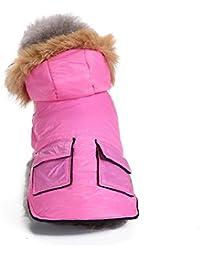 Ropa para Mascotas, Gusspower Ropa de Abrigo Chaqueta Invierno Suéter Sudadera con Capucha cálido cómodo Deportiva Traje con Bolsillo para Mascotas Gato Perro