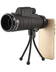 Shaarq Panda Binoculars Zoom 40x60 Monocular Telescope Spyglass Dual Focus Green Film Hunting 66M/8000M Optical Pocket Compact Telescope