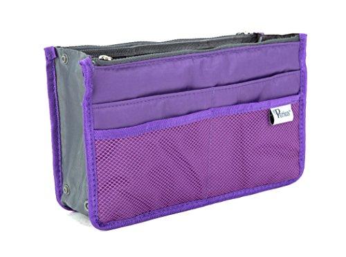 Periea - Organiseur de sac à main, 12 Compartiments - Chelsy (Violet, Petit: H15 x L22 x P2-10cm)