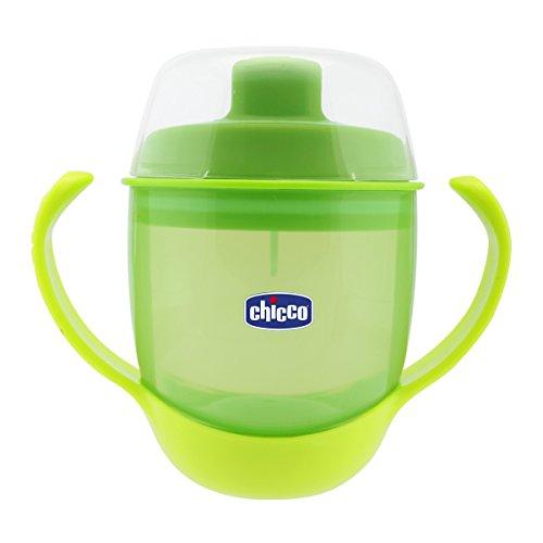 Chicco Trinklernbecher mit Schnabel von der Schnabeltasse zum richtigen Becher, 12+ Monate, grün