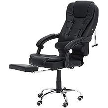 Newgrees Cómoda silla de oficina se acuesta Computer Gaming Chair Silla de Masaje Corporal