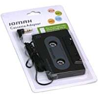 IOMAX Kassettenadapter (Smartphones/MP3-/CD-Player/iPod/Tablets am Autoradio, Tape mit 3,5 mm Klinkenstecker) schwarz