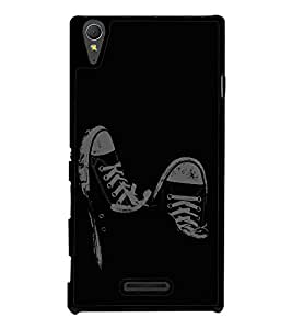 Black and White Shoes Back Case Cover for SONY XPERIA T3