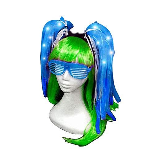 Kostüm Leuchtstoffröhren - TZJ Halloween Explosion Modelle Leuchtstoffröhre Licht Würfel Schlauch Flash Stirnband Licht Netzwerk Tube Stirnband