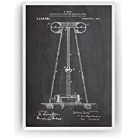 Tesla Apparatus For Transmitting Electrical Energy Poster de Patente Patent Póster Con Diseños Patentes Decoracion de Hogar Inventos Carteles Prints Wall Art Posters Regalos Decor - Marco No Incluido