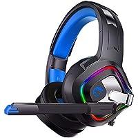 Hanbaili Auriculares para Juegos Sensible Auriculares Ordenador with Vistoso Lámpara De La Carrera De Caballos Computadora