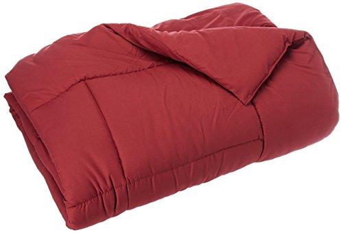 Eleganten Komfort All Season Gänsedaunen Alternative double-fill Tröster (Bettdecke Einsatz), burgunderfarben, Twin/Twin XL -