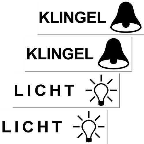 Preisvergleich Produktbild 4 Stück Aufkleber Sticker Licht Klingel Briefkasten Schalter Haustür