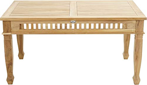 Ploß Ploß 1044590 Gartentisch Esstisch Teak Verzierungen Handarbeit 150 x 90 x 75 cm