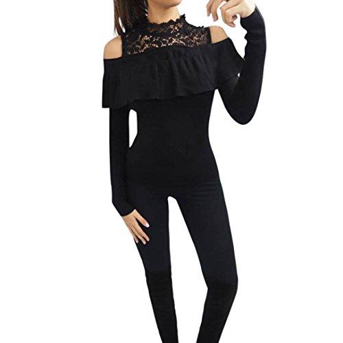 Femmes Sweat,Beauté Top Femmes Dames Noël Manche longue Lettre Sweater Chemisier Tops Toison Chemise Noir