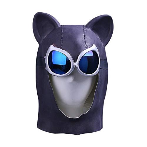 man Maske, Selina Kyle Maske, Cosplay Maske - Perfekt für Karneval und Halloween - Kostüm für Erwachsene - Latex, Frauen,Catwoman-55cm~60cm ()