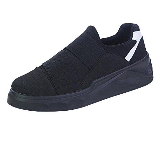 SYYAN Uomo Tela Antiscivolo Leggero All'aperto Traspirante Sneaker black