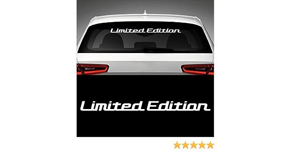 Limited Edition Heckscheibenaufkleber 60 0 Cm X 4 5 Cm Auto Aufkleber Jdm Oem Tuning Sticker Decal 30 Farben Zur Auswahl 2 Auto