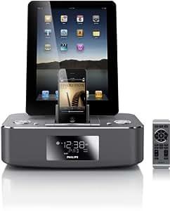 Philips DC390 Radio réveil avec Station d'accueil double pour iPod/iPhone/iPad