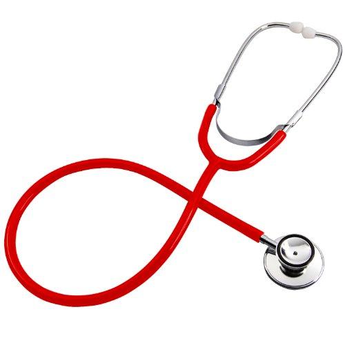 (Trixes Toy Red Stethoskop für Kostüm-Doktor-Zubehör und Kinder-pädagogische Ausrüstung mit Membran und Bell-Eigenschaften)