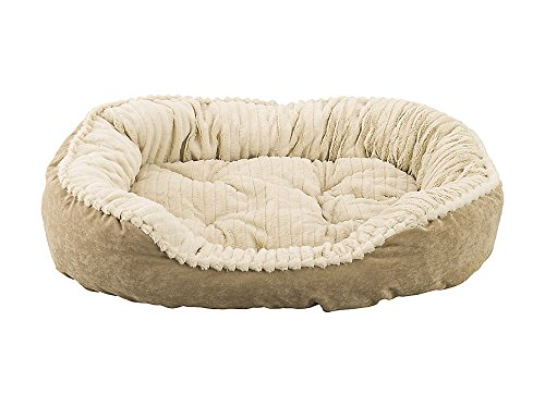 carved-plush-cuddler-step-in-bed-32x25x9-tan