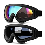 Heeta Ski Goggles, Updated Snowboard Goggles for Kids Men Women Boys & Girls UV 400 Protection Windproof Anti-Glare Goggles for Skiing Snowmobile Motorcycle Bicycle (Gray & Multicolor)