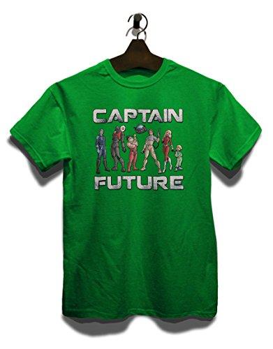 Captain Future T-Shirt Gruen-Green L - Captain Green T-shirt