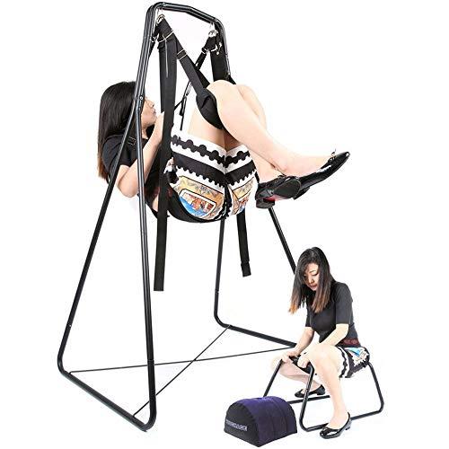 TTHU Spielzeug für Erwachsene Sex Möbel 3IN1 Schaukeln Sex Stuhl Kissen Keil Kissen Liebe Position Bondage Möbel Kit