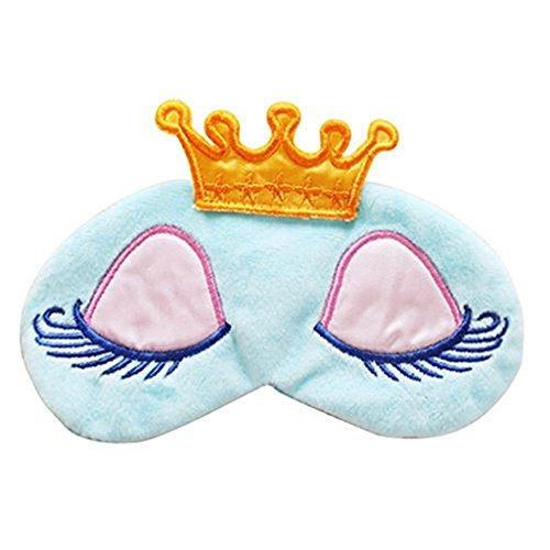 Imported Cartoon Long Eyelash Sleeping Beauty Crown Sleeping Eye Mask Eyeshad