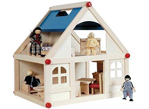 Niedliches Puppenhaus aus Holz 13 tlg