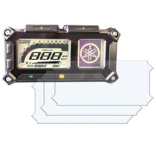 3 x YAMAHA MT-09 900 TRACER Displayschutzfolie Tachoschutzfolie Screen Protector - Anti-Glare Kit Anti Glare Screen Protector