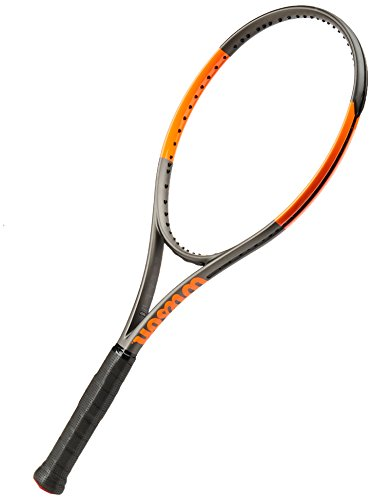 Wilson Burn 100 S CV TNS FRM W/O Raqueta de Tenis, Unisex Adulto, Negro/Naranja (Frozen Smoke/Power Orange), 2