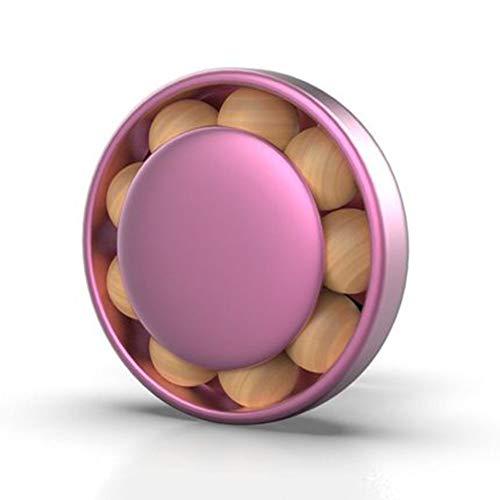 LJSHU Climatizzatore per Auto Uscita Aria Aromaterapia, Deodorante Diffusore Perle di Legno Creative Olio Essenziale Tipo Solido Riutilizzabile Deodorante Decorazione per Interni Auto,Rosso