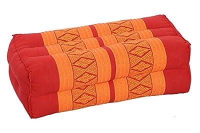 Thaikissen Meditationskissen Nackenkissen 35x15x10 Kissen mit Füllung aus Kapok Yogakissen