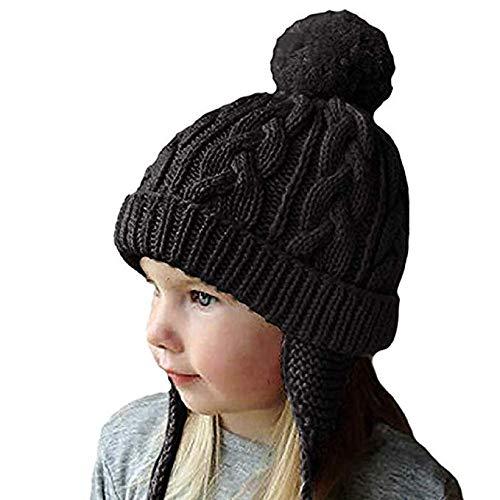 e77a8d175e9 Bonnet Chapeau Enfant Bébé Hiver Bonnets Tricoté Fille Garçon Respirant  Doux Beanie Hats avec Torsades Tresse
