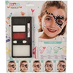 Kit de maquillaje Infantil de pirata niña.