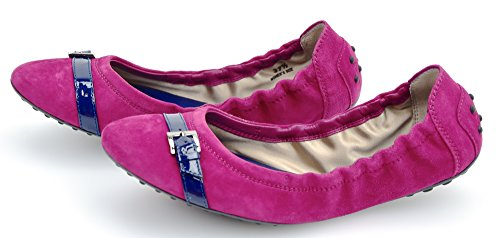 TODS SCARPA BALLERINA DONNA ROSSETTO/BLU ELETTRICO ART. XXW0HI04070RTU165M RTU ROSSETTO/BLU ELETTRICO