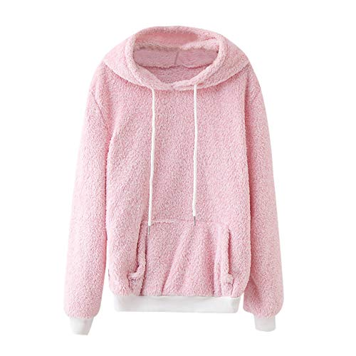 Rosennie Damen Hooded Sweatshirt Coat Winter Baumwollmantel Wolle Große Taschen Outwear Mantel Mode...