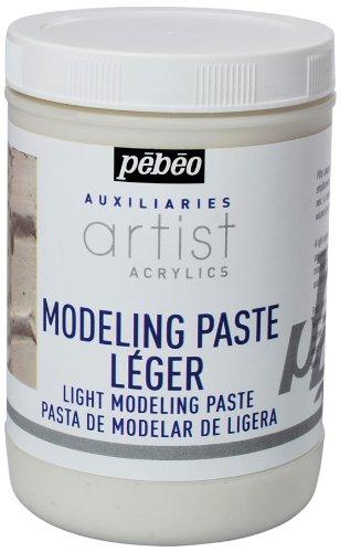 Pebeo Glitzerfarbe, 1 l, Modellierpaste, weiß