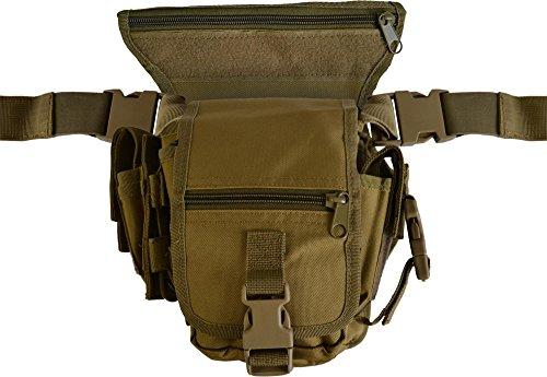 Hüfttasche Hip Bag SECURITY Bein und Gürtelbefestigung Coyote Tan