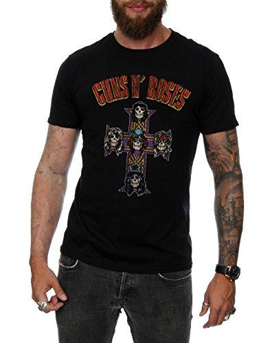 Guns N Roses Herren Appetite For Destruction Cross Arched Type T-Shirt Schwarz