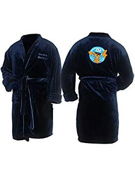 Mens Cookie Monster Bathrobe Bata de baño