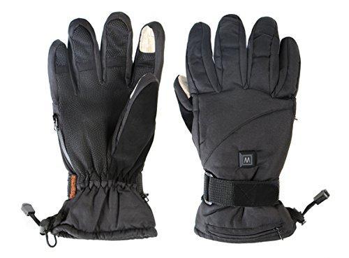 """Warmawear - DuoWärme - beheizbare Skihandschuhe mit \""""Power Burst\""""-Funktion und 3 Wärmestufen - Groß (L)"""