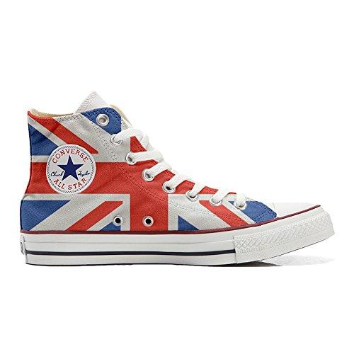 Converse Personalizzate all Star Sneaker Unisex (Scarpa Artigianale) Bandiera Inglese - TG37