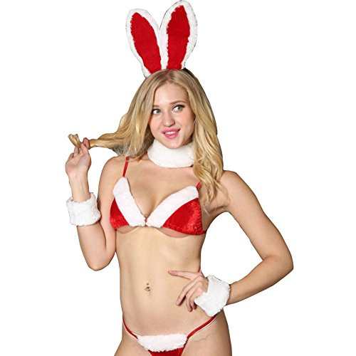 ROBO Reizwäsche Weihnachten Häschen-Mädchen Damen Unterwäsche Mode Sexy -