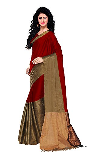 Trendz cotton Silk Saree(TZ_Vishwa_Maroon)