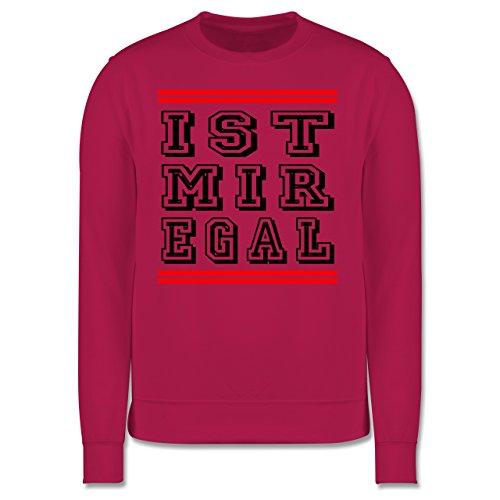 Statement Shirts - IST MIR EGAL - Herren Premium Pullover Fuchsia