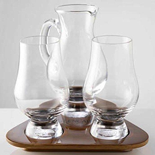 Glencairn Whisky-Verkostungsset, inkl. Wasserkaraffe und Tablett, aus Schottland