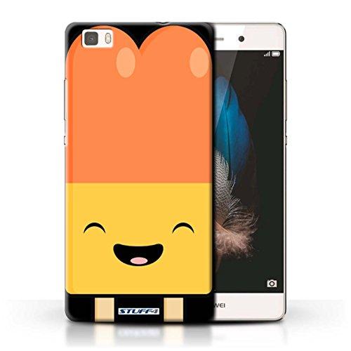 Custodia/Cover/Caso/Cassa Rigide/Prottetiva STUFF4 stampata con il disegno Cibo Kawaii per Huawei P8 Lite - Ghiacciolo
