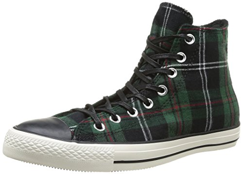 Converse Unisex-Erwachsene All Star Prem Hi 1970's Hightop Sneaker Green Tartan